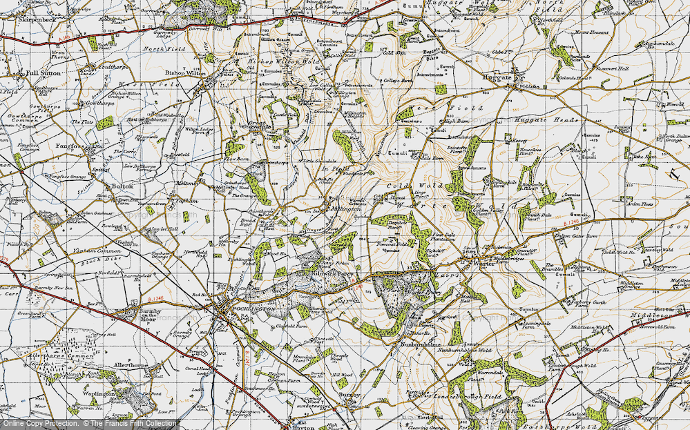 Old Map of Historic Map covering Lings Plantn in 1947