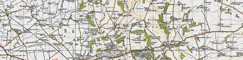 Old map of Whitekeld Dale in 1947