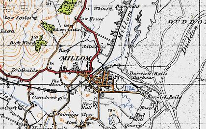 Old map of Millom in 1947
