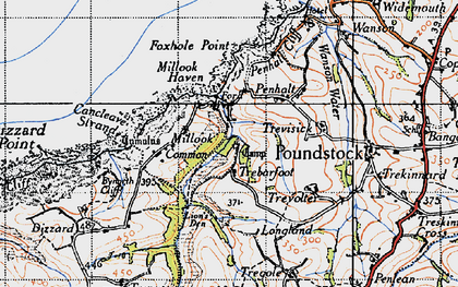 Old map of Millook in 1946