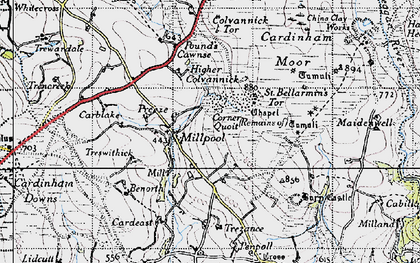 Old map of Millpool in 1946