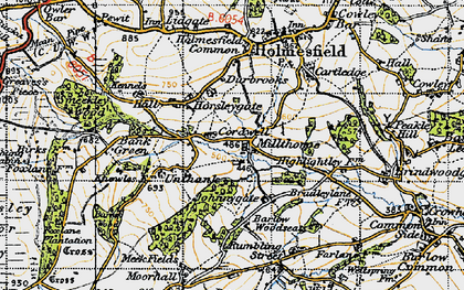Old map of Millthorpe in 1947