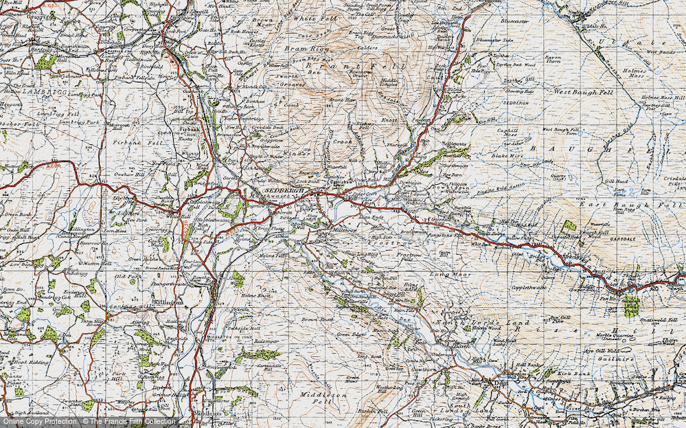 Old Map of Historic Map covering Lane Ends in 1947