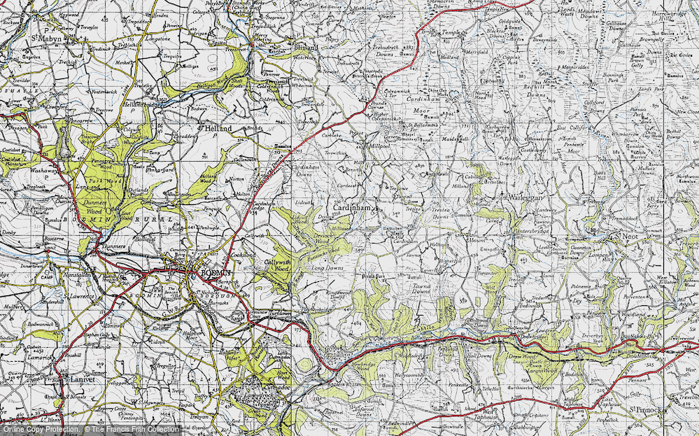 Old Map of Historic Map covering Lidcutt Wood in 1946