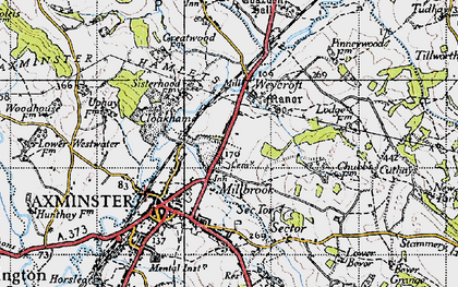 Old map of Millwey Rise in 1945