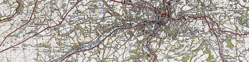 Old map of Milnsbridge in 1947