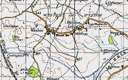 Old map of Astwell Ho in 1946