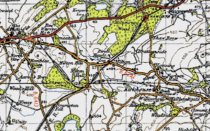 Old map of Wreay in 1947