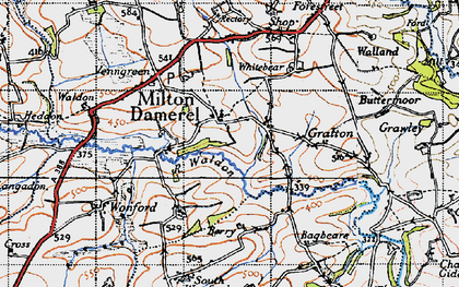 Old map of Milton Damerel in 1946