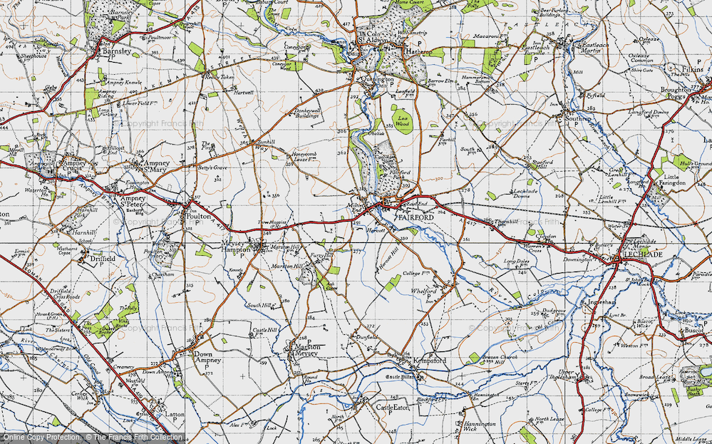 Old Map of Historic Map covering Toms Copse in 1947
