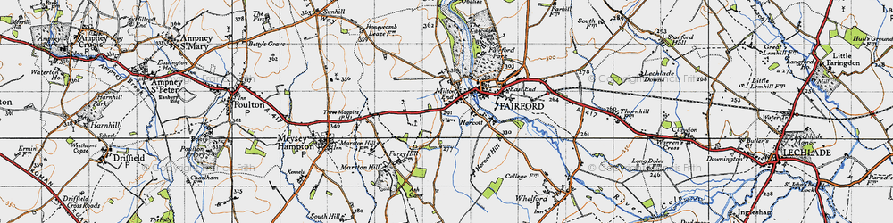 Old map of Toms Copse in 1947