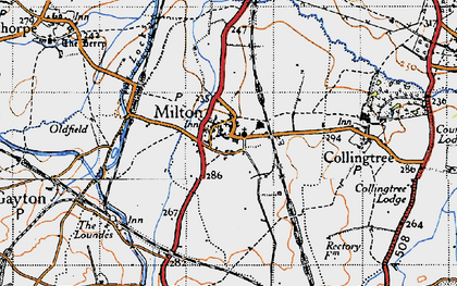 Old map of Milton Malsor in 1946