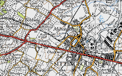 Old map of Milton Regis in 1946