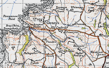 Old map of Mineshope in 1946