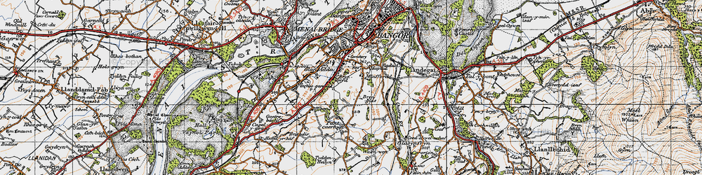 Old map of Minffordd in 1947