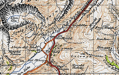 Old map of Afon Fawnog in 1947