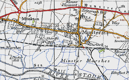 Old map of Abbot's Wall in 1947