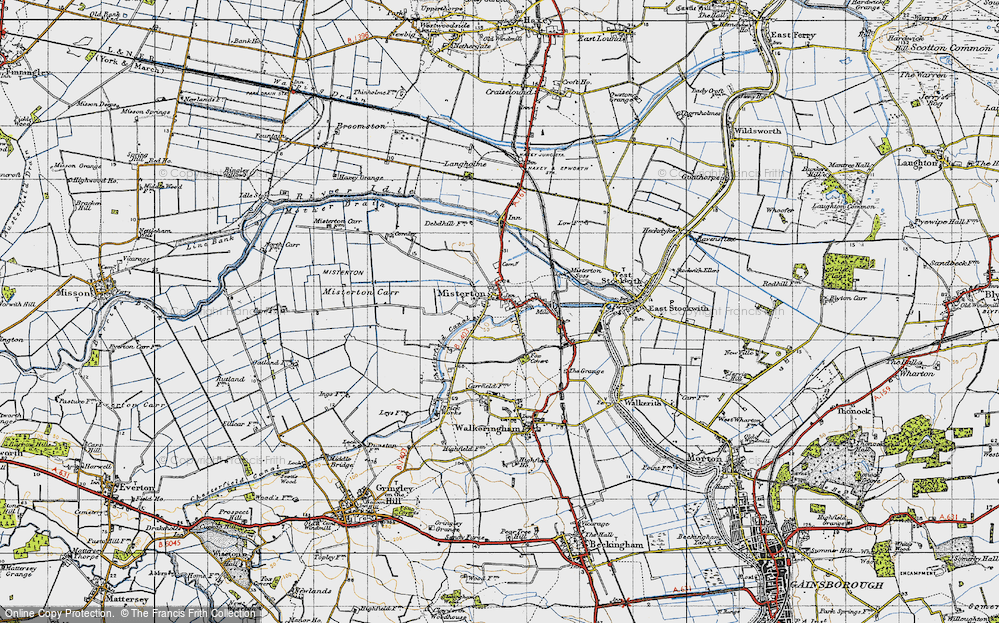 Old Map of Misterton, 1947 in 1947