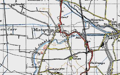 Old map of Misterton in 1947