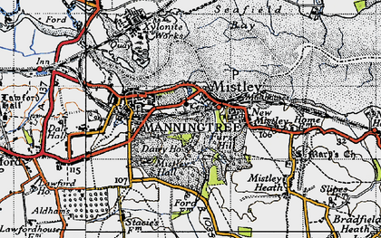 Old map of Mistley in 1946