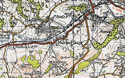 Old map of Mitchel Troy in 1946
