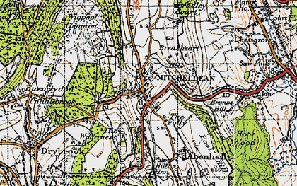 Old map of Mitcheldean in 1947