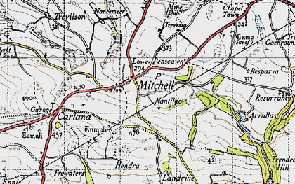Old map of Mitchell in 1946