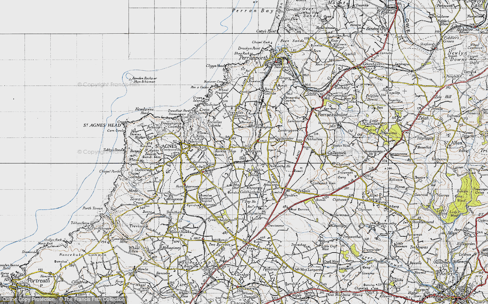 Old Map of Mithian, 1946 in 1946