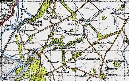 Old map of Liddel Strength in 1947