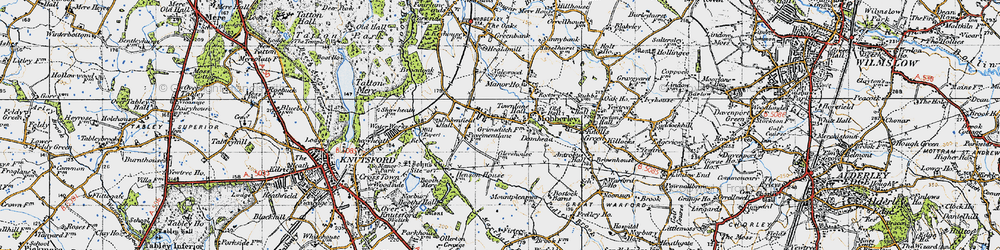 Old map of Mobberley in 1947