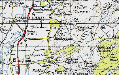 Old map of Whitefield Plantn in 1940