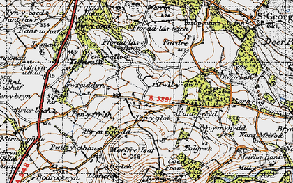 Old map of Ysgeirallt in 1947