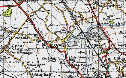 Old map of Astbury Ho in 1947