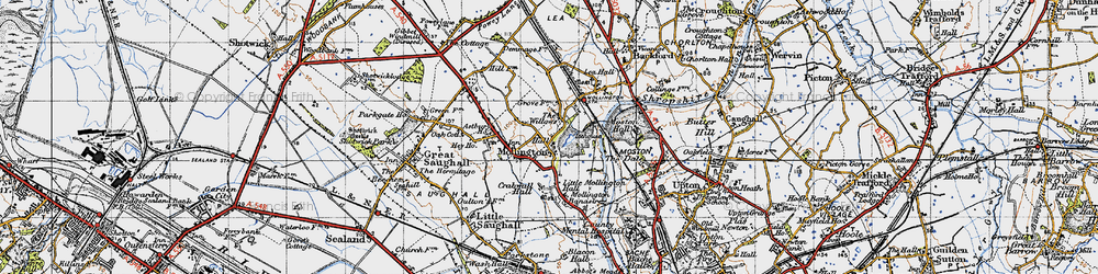 Old map of Willows, The in 1947