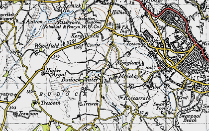Old map of Mongleath in 1946