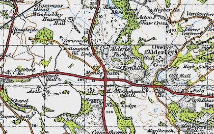 Old map of Alderley Park in 1947