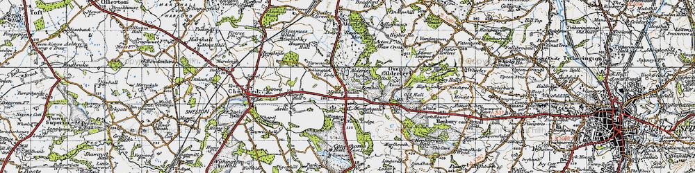Old map of Alderley Park in 1947