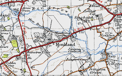 Old map of Monkland in 1947