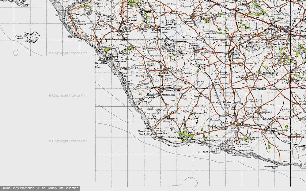 Old Map of Monknash, 1947 in 1947