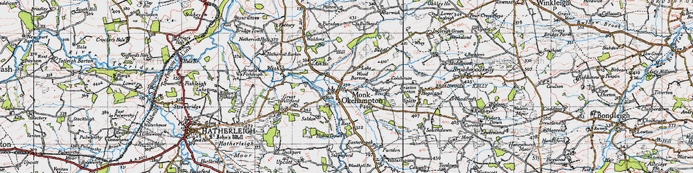 Old map of Wood Barton in 1946