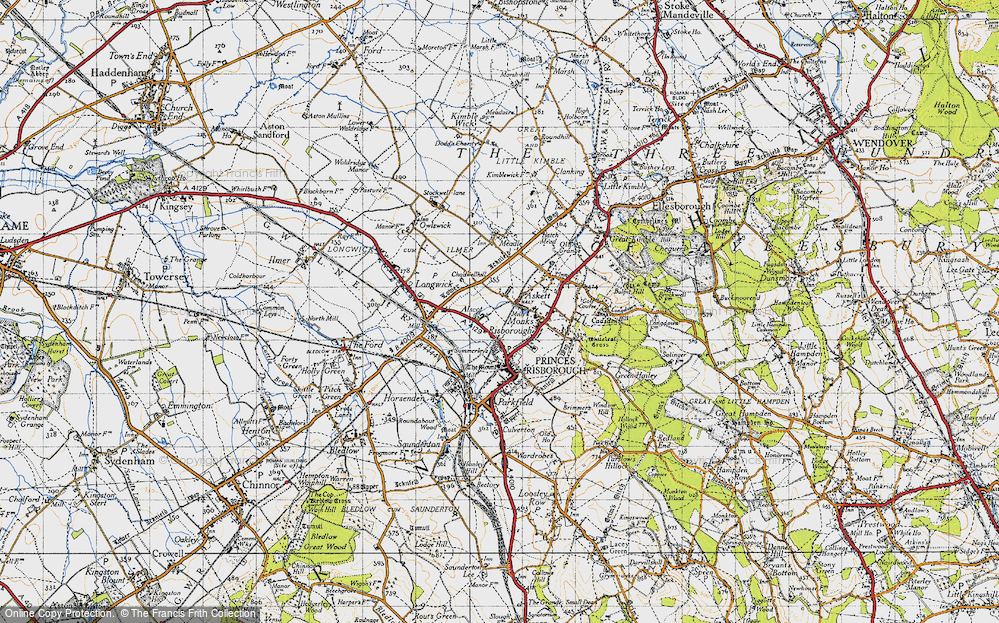 Old Map of Monks Risborough, 1947 in 1947
