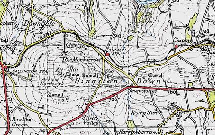 Old map of Monkscross in 1946