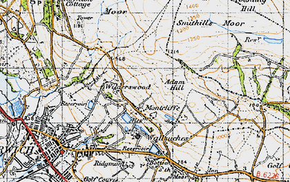 Old map of Adam Hill in 1947