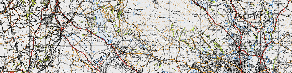 Old map of Winter Hill in 1947