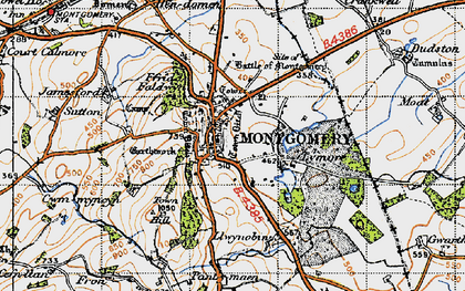 Old map of Montgomery in 1947