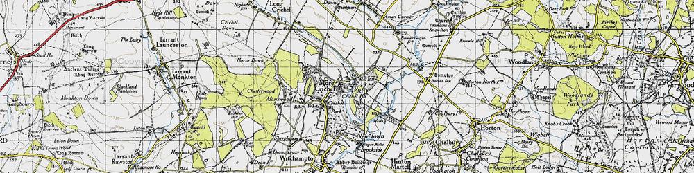 Old map of Crichel Ho in 1940
