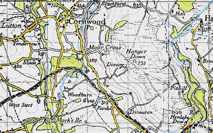Old map of Whingreen in 1946