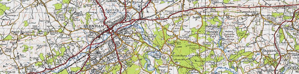 Old map of Waverley Abbey in 1940