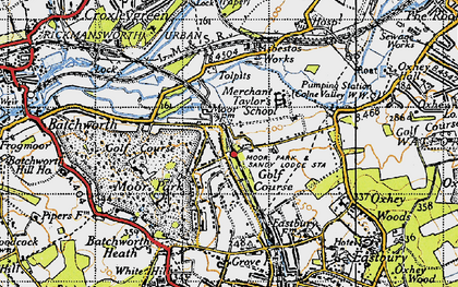 Old map of Tolpits Ho in 1945