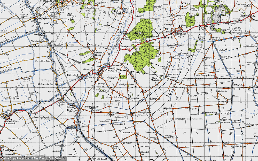 Old Map of Moor Side, 1946 in 1946